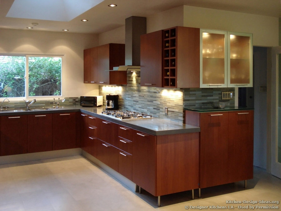 kitchens la pictures kitchen remodels modern cherry kitchen glass wood backsplash