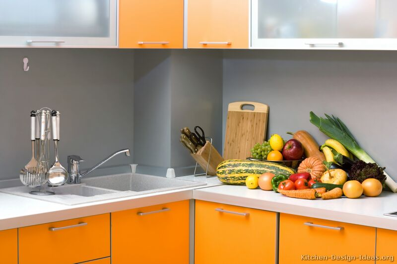 Peindre Meuble Ikea Malm Pictures Of Modern Orange Kitchens - Design Gallery