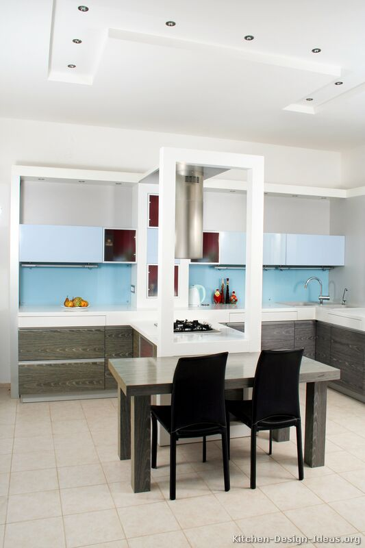 Pictures Of Kitchens With Gray Cabinets Pictures Of Kitchens - Modern - Two-tone Kitchen Cabinets