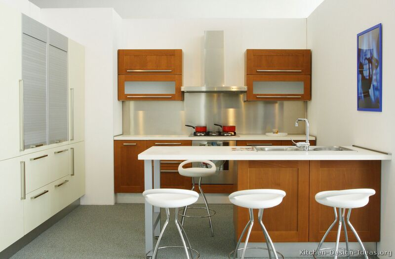 Two Tone Kitchen Cabinets Pictures Of Kitchens - Modern - Two-tone Kitchen Cabinets