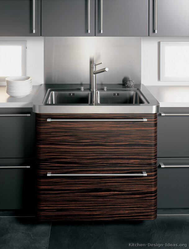 Color Schemes Kitchens With Gray Cabinet Pictures Of Kitchens - Modern - Dark Wood Kitchens (page 3)