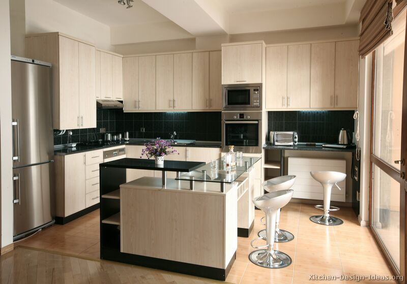 Standard Kitchen Island Dimensions Pictures Of Kitchens - Modern - Whitewashed Cabinets
