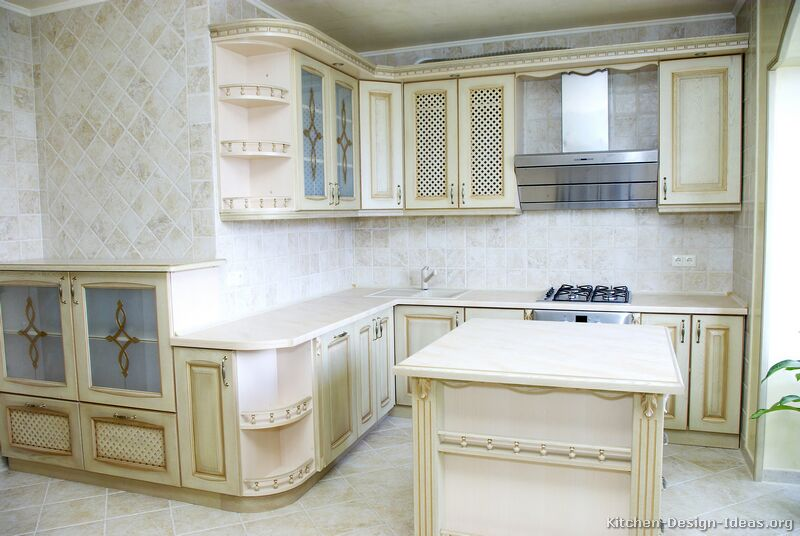 Antique White Cabinets Pictures Of Kitchens - Traditional - Off-white Antique
