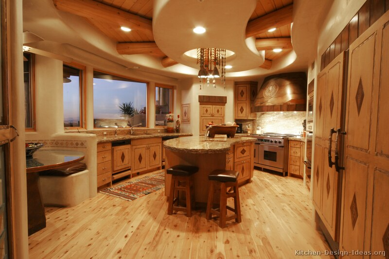 rustic santa fe style kitchen adobe walls inlaid cabinets contemporary french kitchen design kitchen tables images hnydt