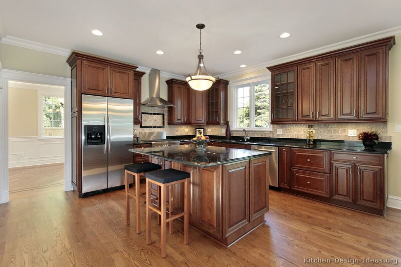 tuesday kitchen day classic cherry classic cherry kitchen kitchen backsplash ideas cherry cabinets cherry kitchen cabinets
