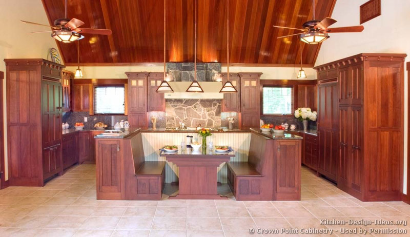 Craftsman Kitchen Island Mission Style Kitchens - Designs And Photos