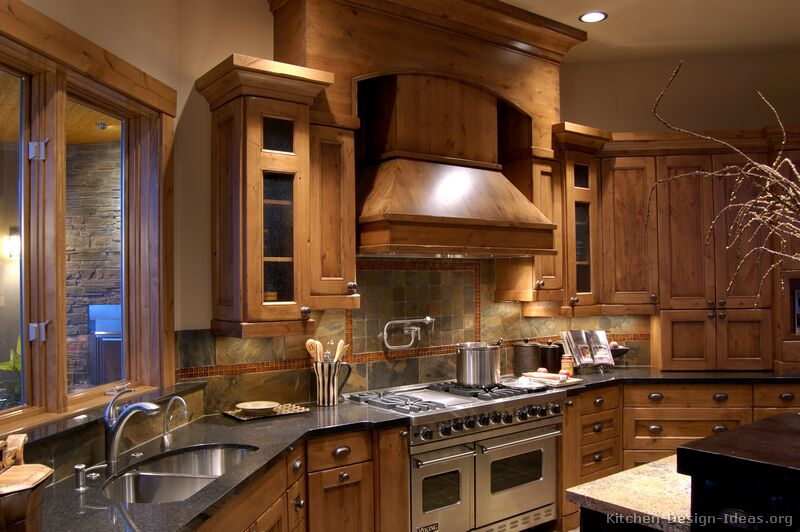 Muebles Viking Pictures Of Kitchens - Traditional - Medium Wood Cabinets