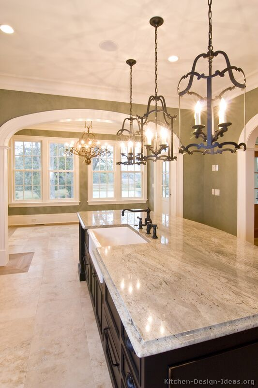 Pendant Lighting Kitchen Island Ideas Pictures Of Kitchens - Traditional - Two-tone Kitchen
