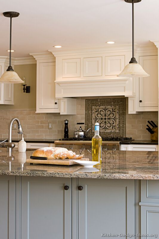 Color Schemes Kitchens With Gray Cabinet Pictures Of Kitchens - Traditional - Two-tone Kitchen