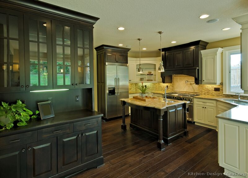 Kitchen Island Trends Pictures Of Kitchens - Traditional - Two-tone Kitchen