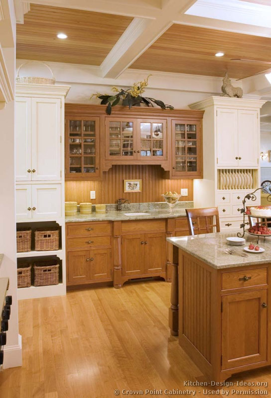 Tuscan Backsplash Pictures Of Kitchens - Traditional - Two-tone Kitchen