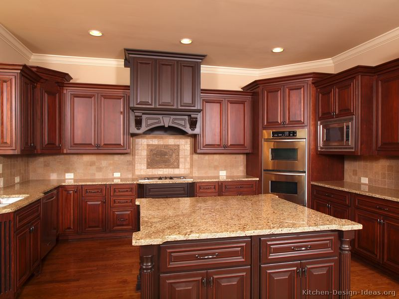 kitchens traditional tone kitchen cabinets kitchen kitchen backsplash ideas cherry cabinets cherry kitchen cabinets