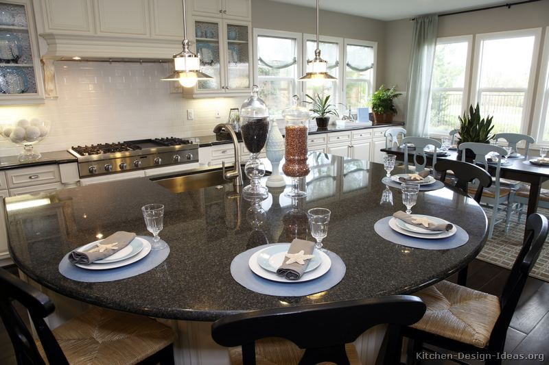 Rounded Kitchen Island Gourmet Kitchen Design Ideas
