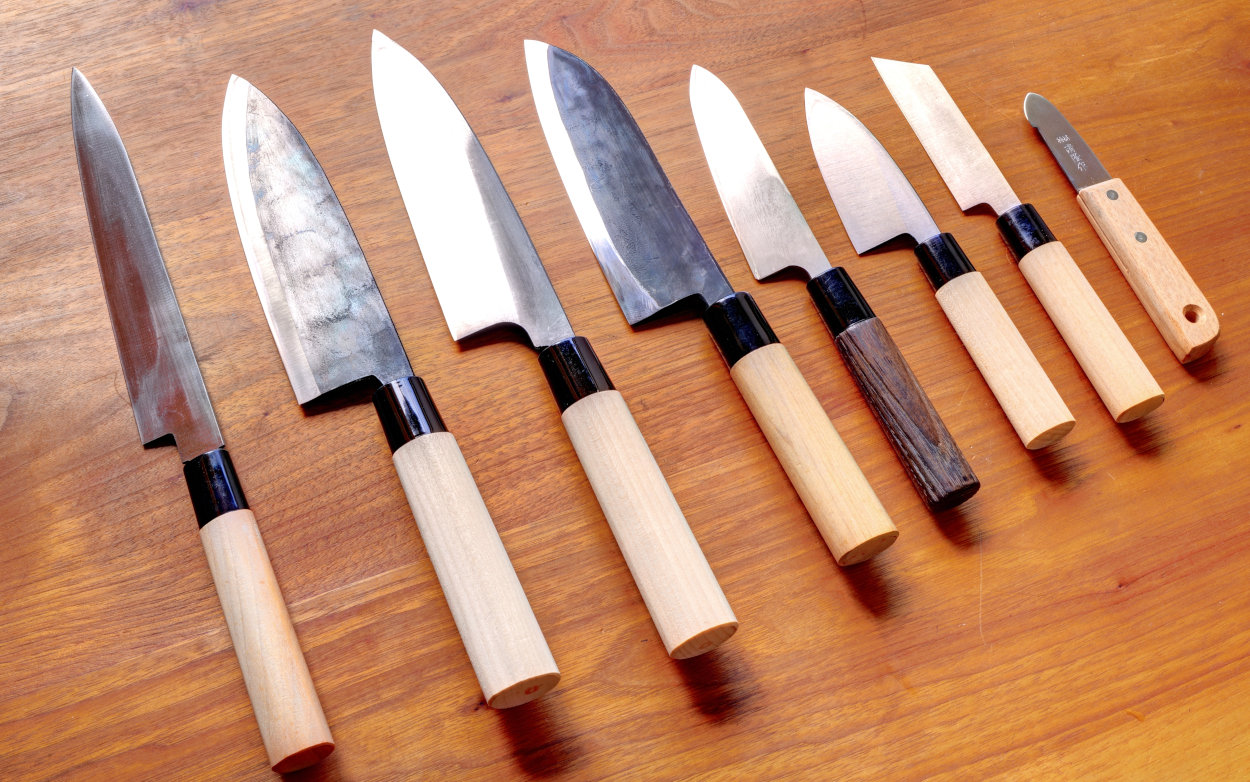 japanese traditional kitchen knives watanabe knives cooks knife paring knife carving fork