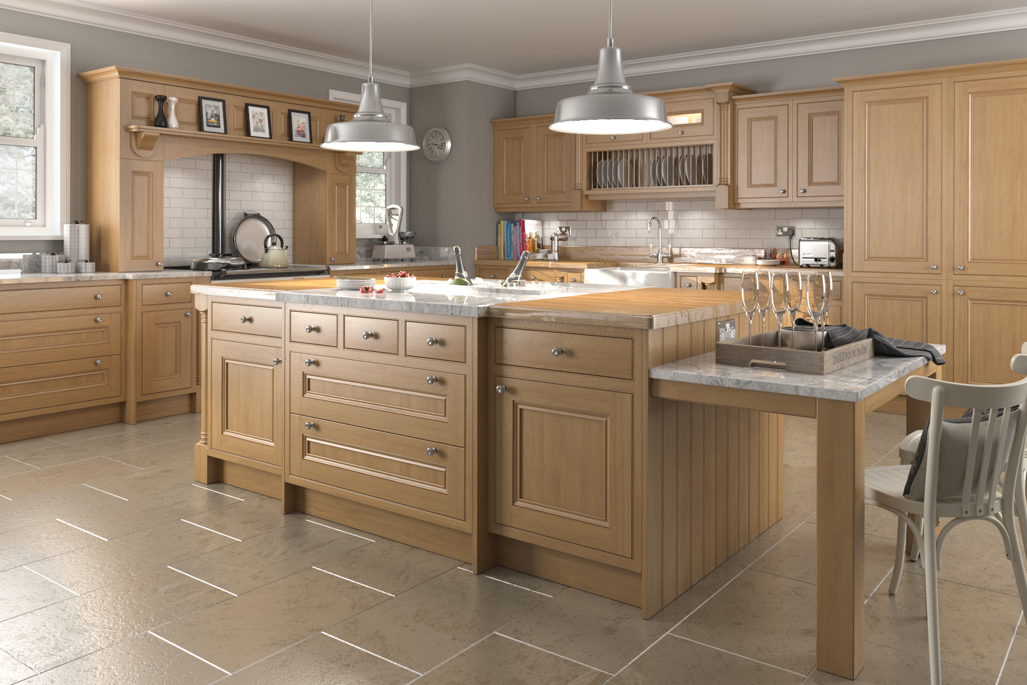 A Frame Kitchen Designs Traditional In Frame Oak Kitchens Think Kitchens