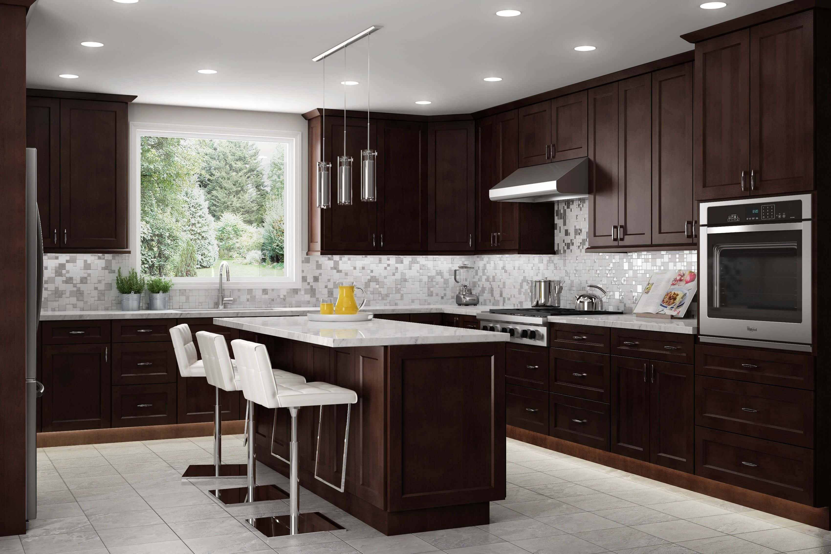 Chestnut Shaker Kitchen Cabinets Chestnut Shaker Rta Kitchen Cabinets Kcd
