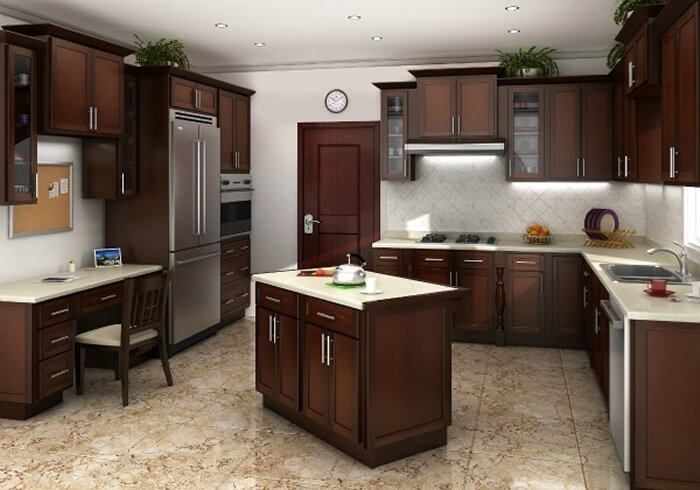 Stain Particle Board Kitchen Cabinets Chestnut Shaker Ready To Assemble Kitchen Cabinets