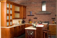 Caramel shaker Kitchen cabinets Design