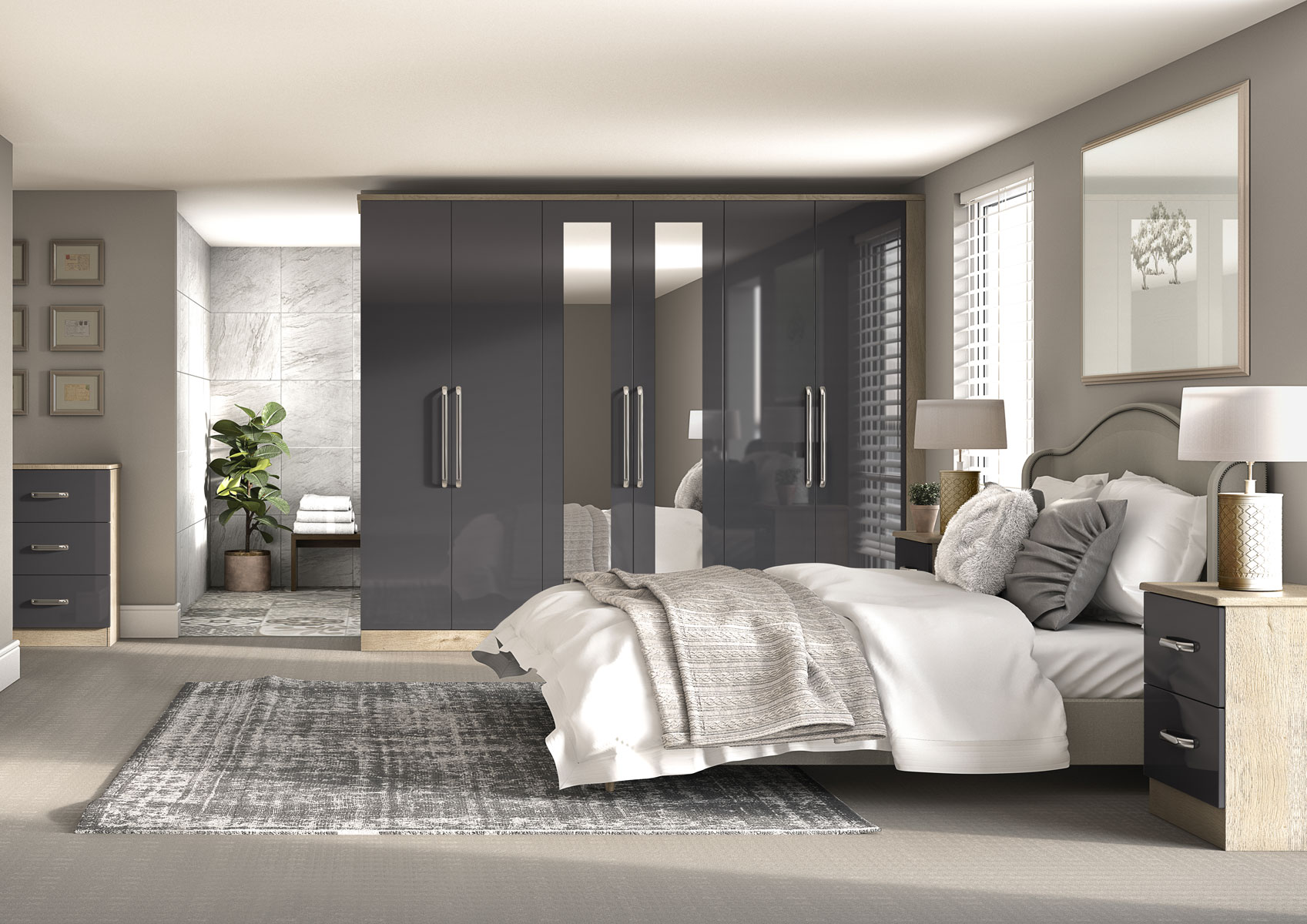 Bedrooms Kitchen Cgi