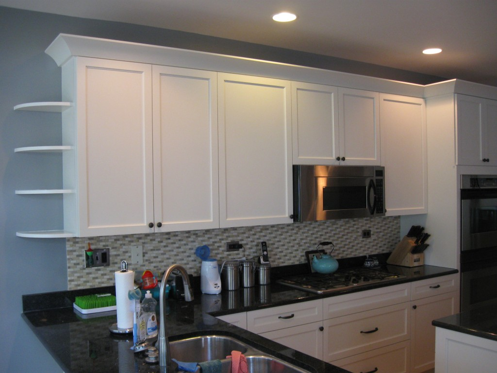 White Shaker Doors For Kitchen Cabinets With Oak Trim Cabinet Refacing Images