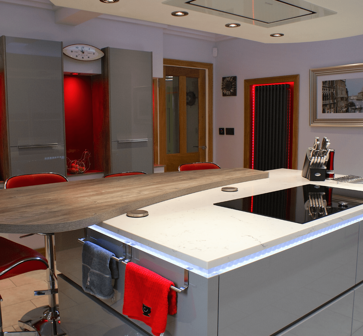 Kitchen Design Centre Hollinwood Designer Red Kitchen Customer Kitchens Kitchen Design