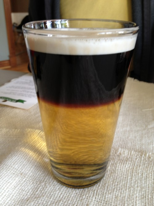 Medium Of Black And Tan Drink