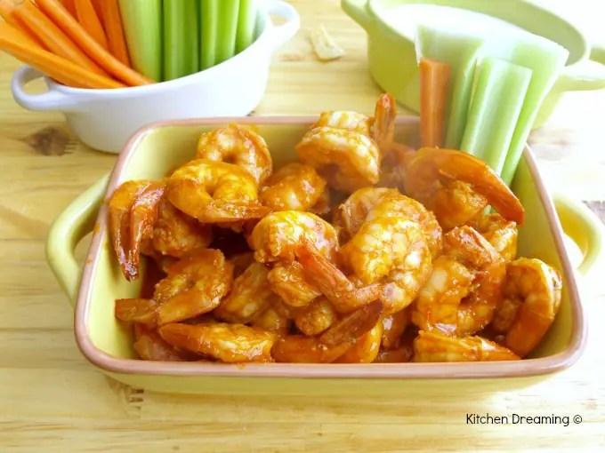 Oven Roasted Buffalo Shrimp