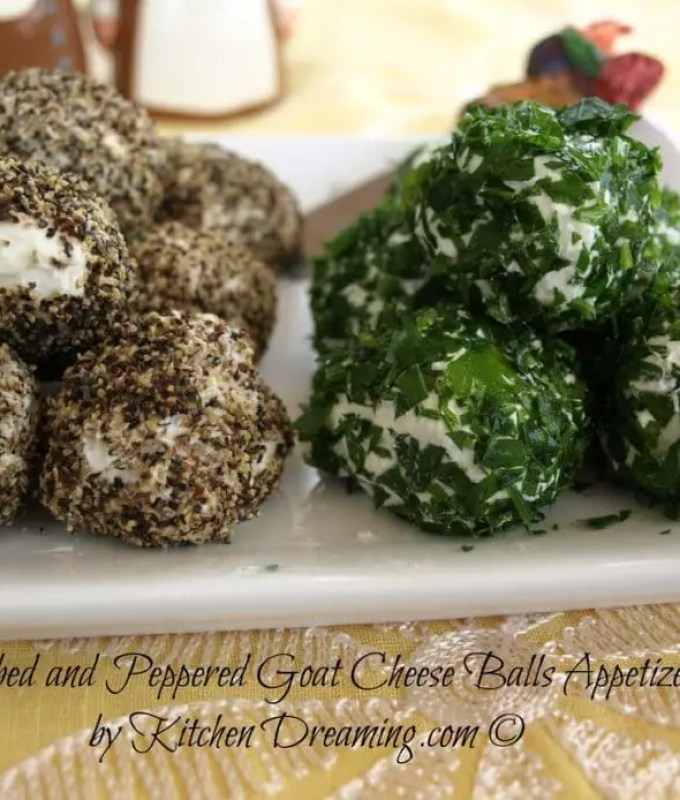 Herb and Peppered Goat Cheese Balls