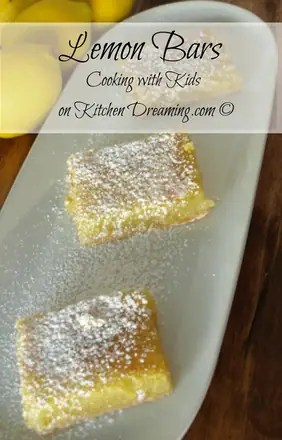 Cooking with Kids Best Lemon Bar Recipe
