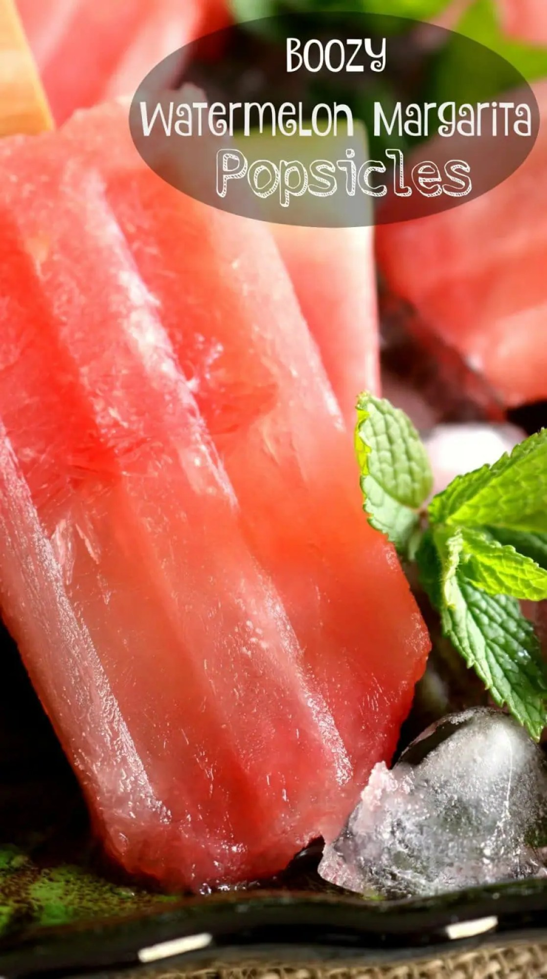 These Boozy Watermelon Margarita Popsicles are a hit at backyard ...