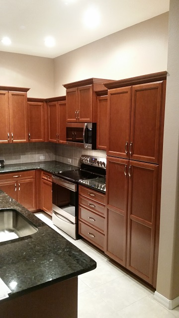 How To Finish Kitchen Cabinets Stain Cabinet Refacing Pictures Before & After | Kitchen Facelifts