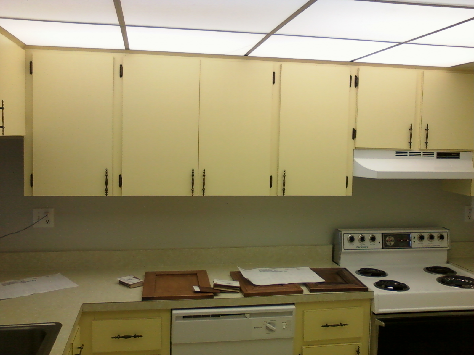 Resurfaced Kitchen Cabinets Before And After Cabinet Refacing Pictures Before And After Kitchen Facelifts