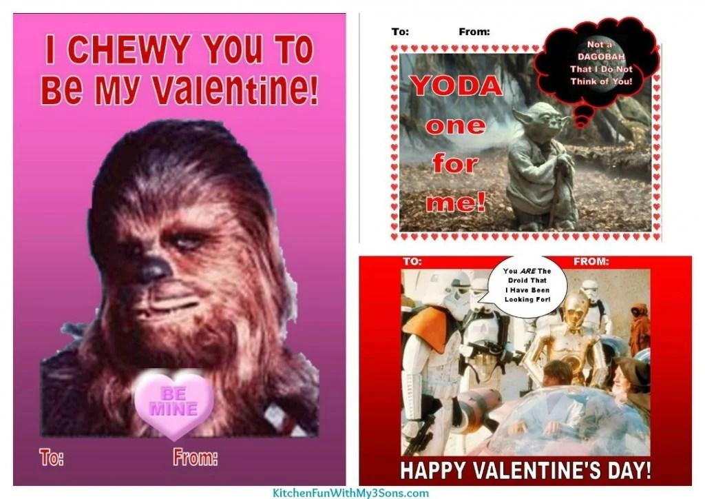 Star Wars Valentine\u0027s Day FREE Printable! - Kitchen Fun With My 3 Sons