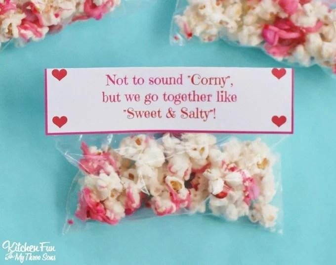 Valentine\u0027s Day Snack - White Chocolate Popcorn with a Free