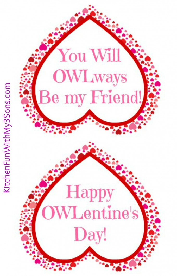 Valentine Owl Craft - Paper Treat Bags with a Free Printable