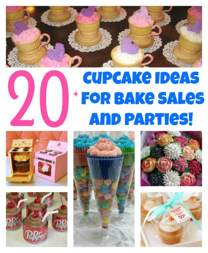 The BEST Cupcake Ideas for Bake Sales and Parties! - Kitchen Fun - bake sale images
