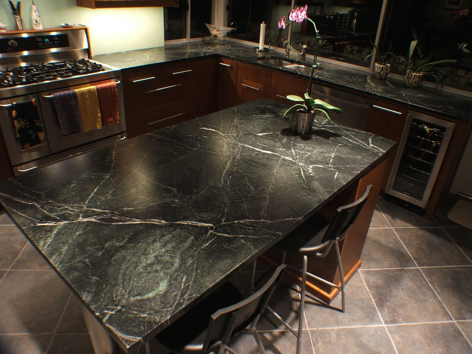 Natural Way To Clean Granite Countertops Comparing Natural Stone Countertops Kitchen Remodeler