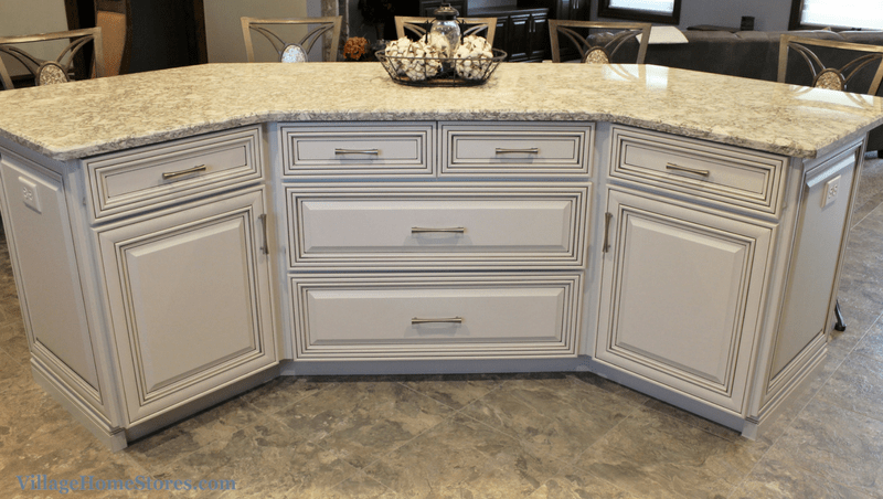Batwing Kitchen Island Geneseo, Il Kitchen With Birch Cabinets And Cambria Quartz