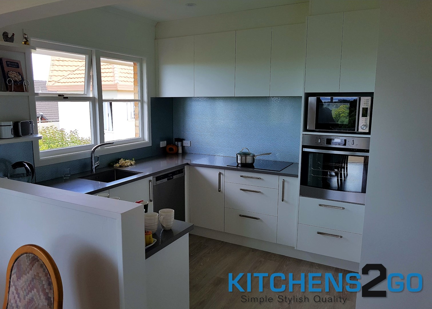 Grey Benchtop Kitchen Laser Edge Doors With Grey Benchtop Kitchens 2 Go