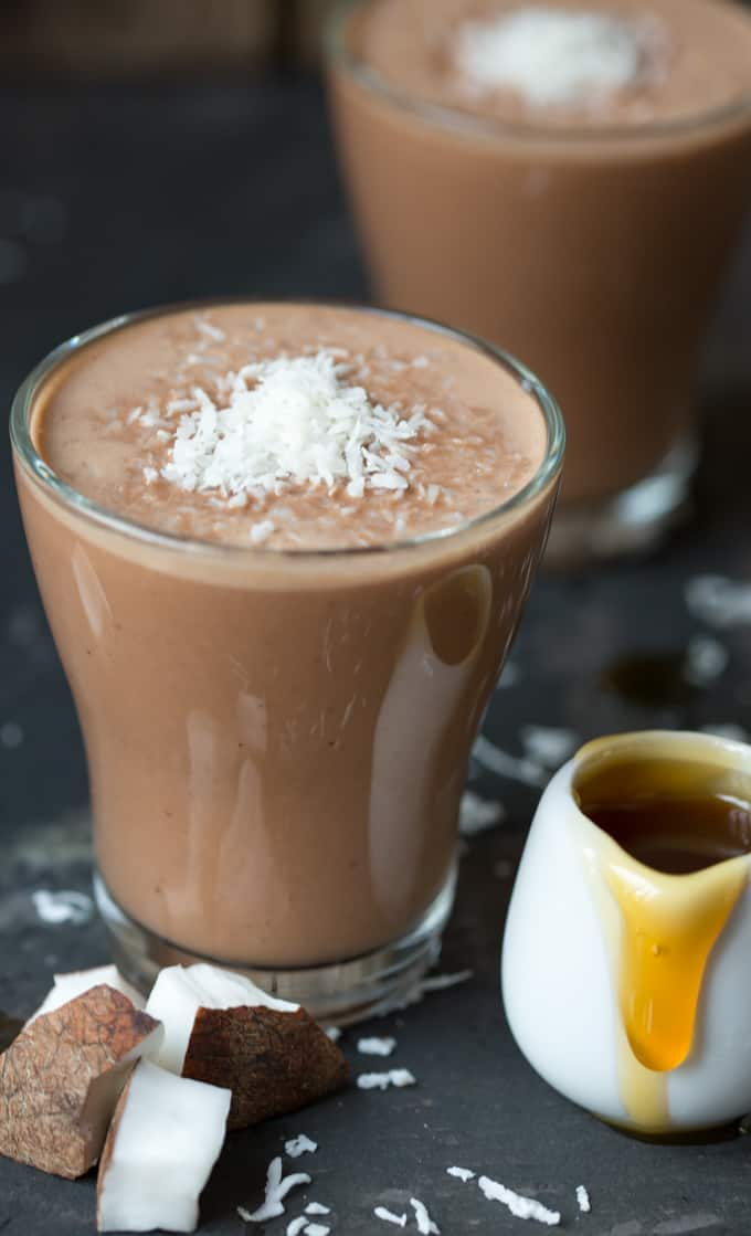 Malted Coconut HOT Smoothie - a quick and healthy hot smoothie for a cold day