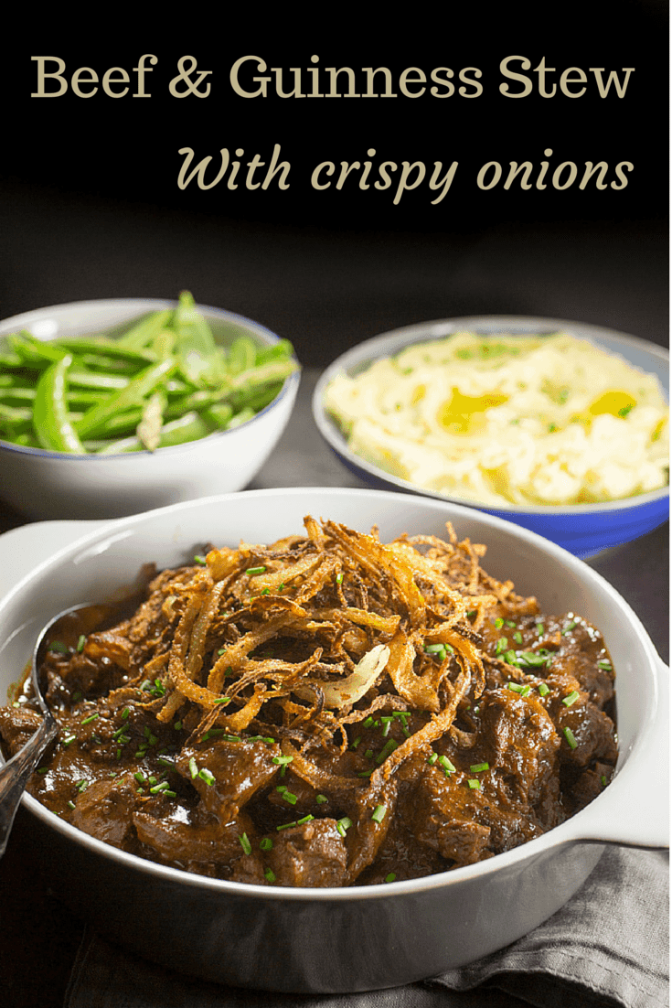 Beef and Guinness Stew with Crispy Onions - Nicky's Kitchen Sanctuary