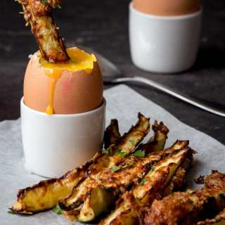 Courgette Fries and the perfect Dippy Egg