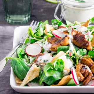 Chicken Shawarma and Pita Salad