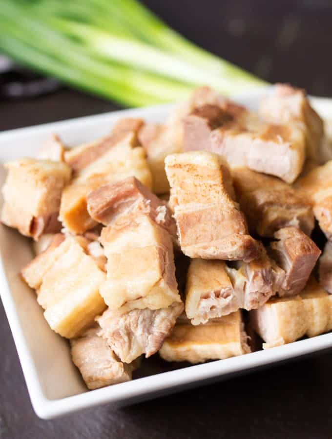 Slow cook belly pork slices recipe