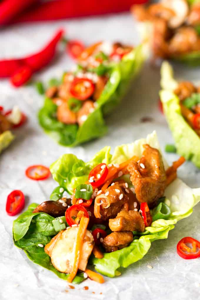 Juicy, spicy, fresh and healthy – these Asian lettuce wraps have got ...