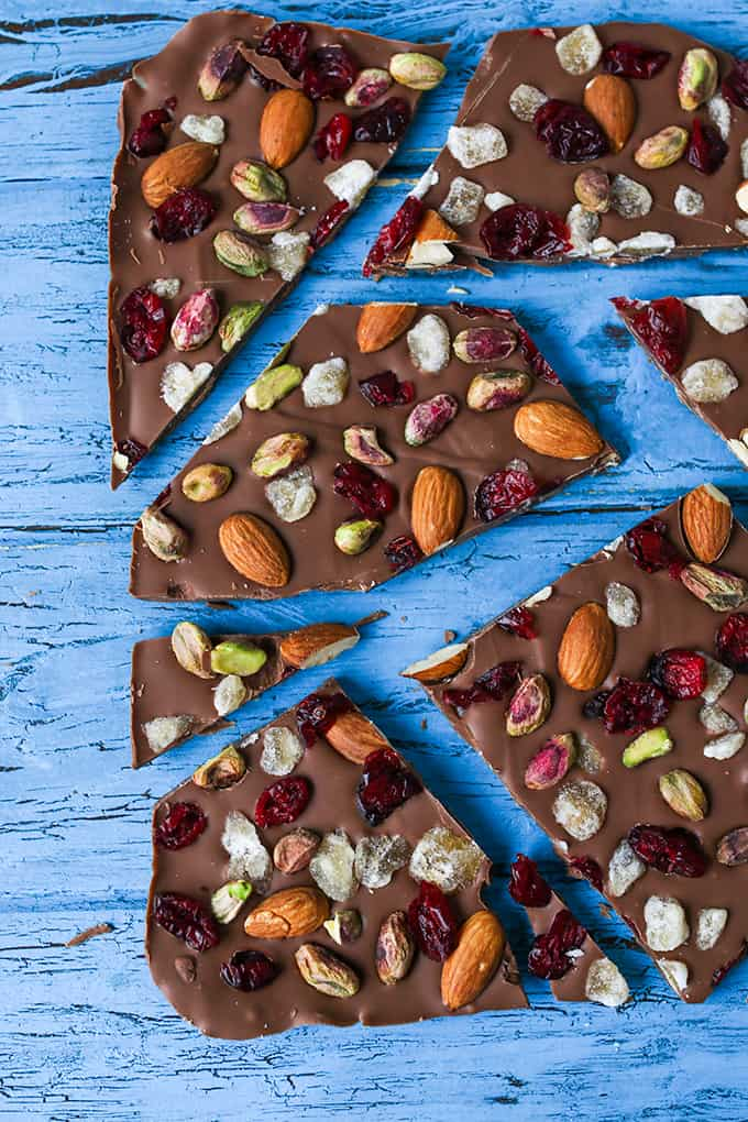 Chocolate Bark - A simple chocolate treat with nuts, cranberries and ...