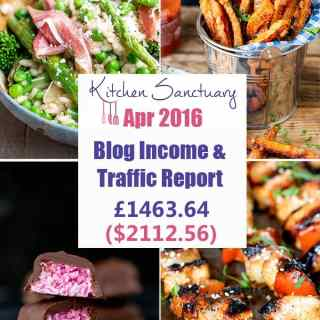 Blog Income and Traffic Report April 2016