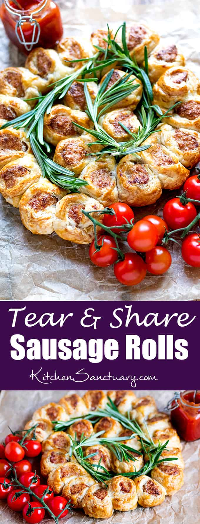 These 3 ingredient sausage rolls are so simple and quick to make. Perfect for parties, BBQs, buffets and picnics.