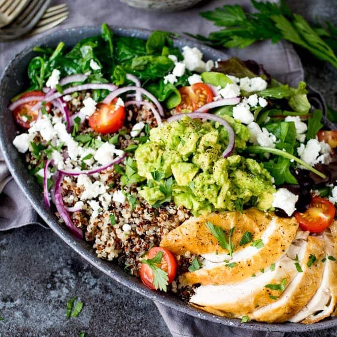 Quinoa bowls with grissini crunchNickys Kitchen Sanctuary