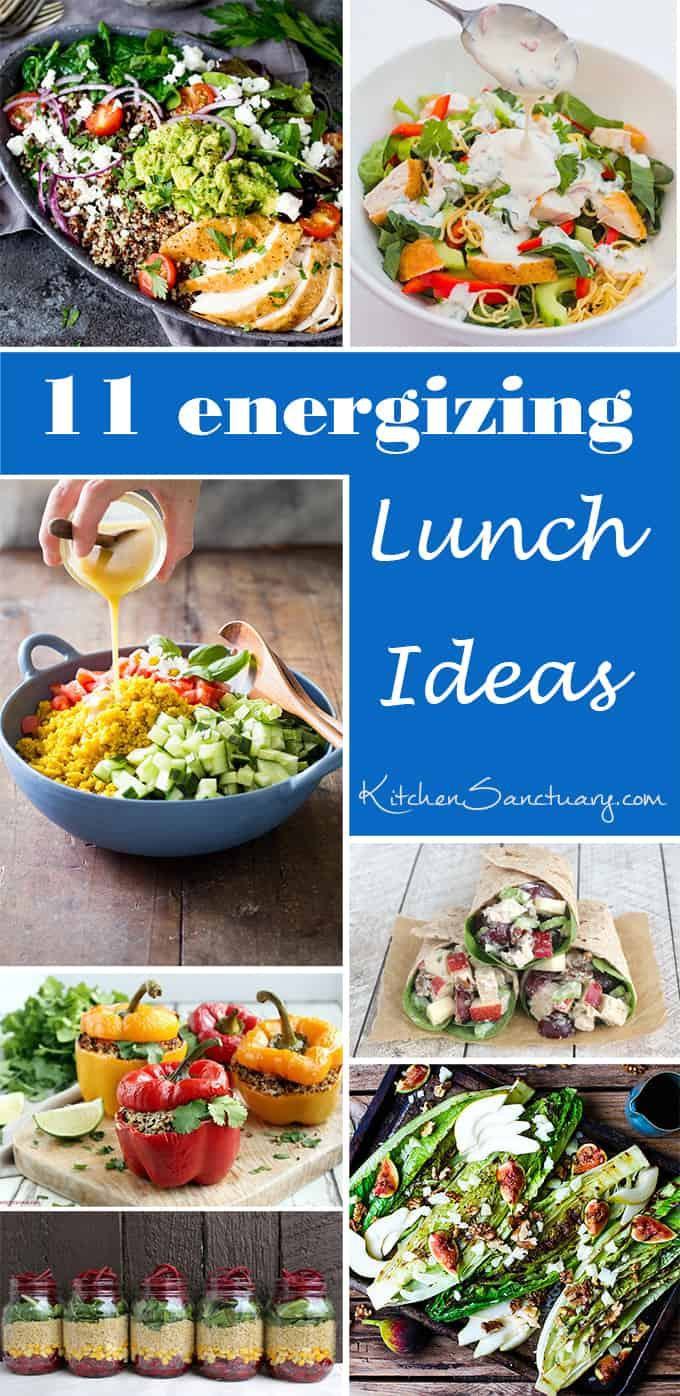 11 energizing lunch ideas - a great way to stop the afternoon energy crash!